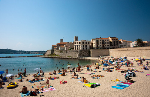 Beach in Antibes