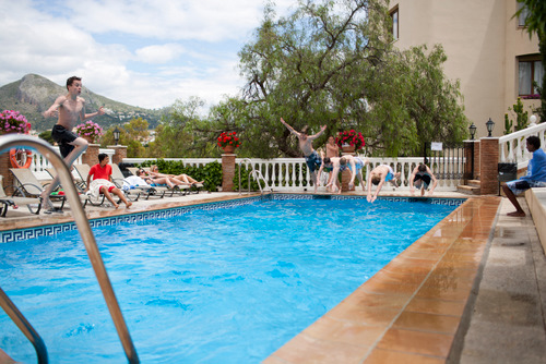 Private swimming pool and sun terrace will help you relax after a day of studying Spanish